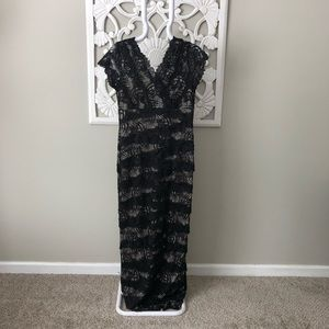 Gina Bacconi black lacy dress. Size 12. Beautiful!